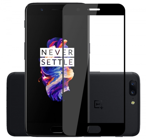 Folie sticla securizata Full Glue OnePlus 5, Black 0