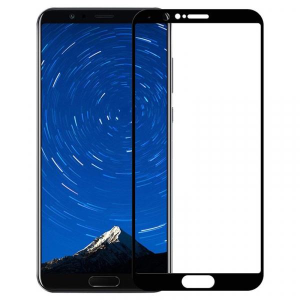 Folie sticla securizata Full Glue pentru Huawei Honor View 10, Negru 0