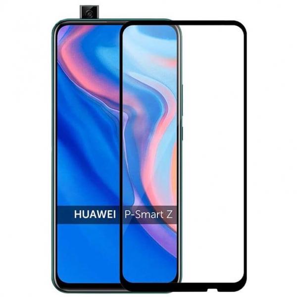 Folie sticla securizata Full Glue pentru Huawei P Smart Z, Negru [0]