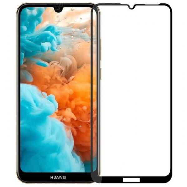 Folie sticla securizata Full Glue pentru Huawei Y7 2019, Negru 0
