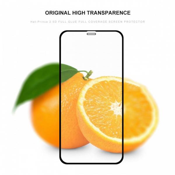 Folie sticla securizata Full Glue pentru iPhone XR, Negru 2