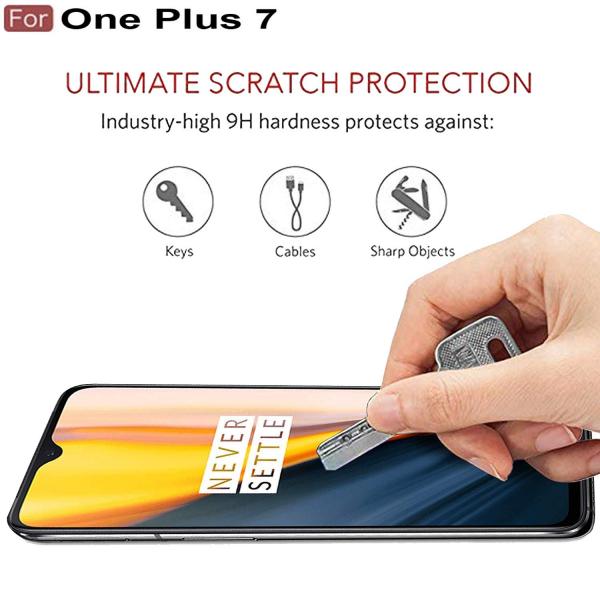 Folie sticla securizata Full Glue pentru OnePlus 7, Negru 1