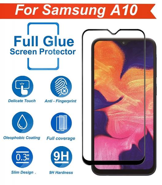 Folie sticla securizata Full Glue pentru Samsung Galaxy A10, Negru 2