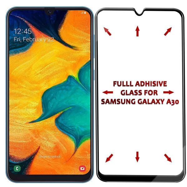 Folie sticla securizata Full Glue pentru Samsung Galaxy A30, Negru 1