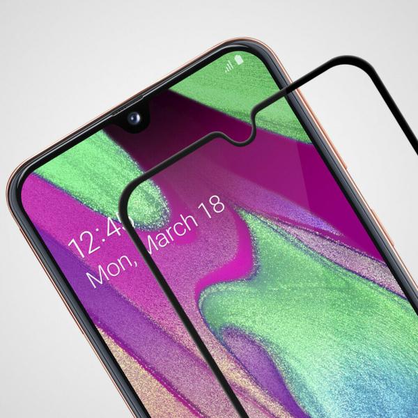 Folie sticla securizata Full Glue pentru Samsung Galaxy A40, Negru 1
