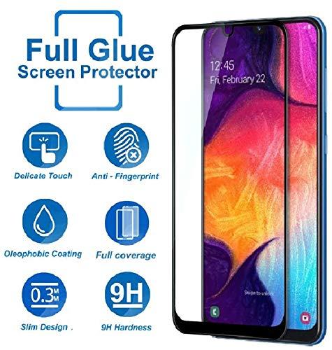 Folie sticla securizata Full Glue pentru Samsung Galaxy A50, Negru 2
