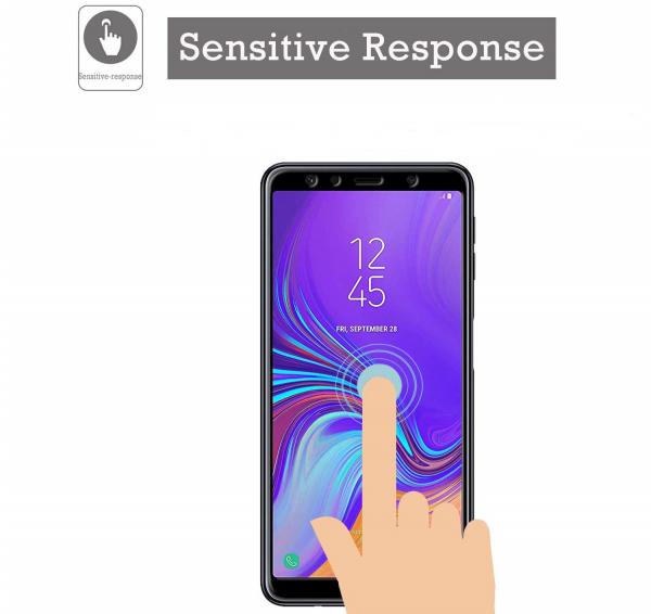Folie sticla securizata Full Glue pentru Samsung Galaxy A7 (2018), Negru 1