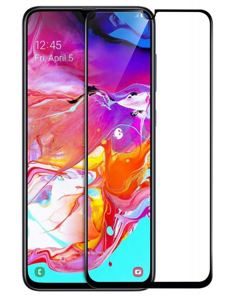 Folie sticla securizata Full Glue pentru Samsung Galaxy A70, Negru 0