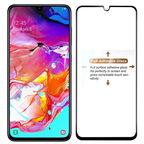 Folie sticla securizata Full Glue pentru Samsung Galaxy A70, Negru 1