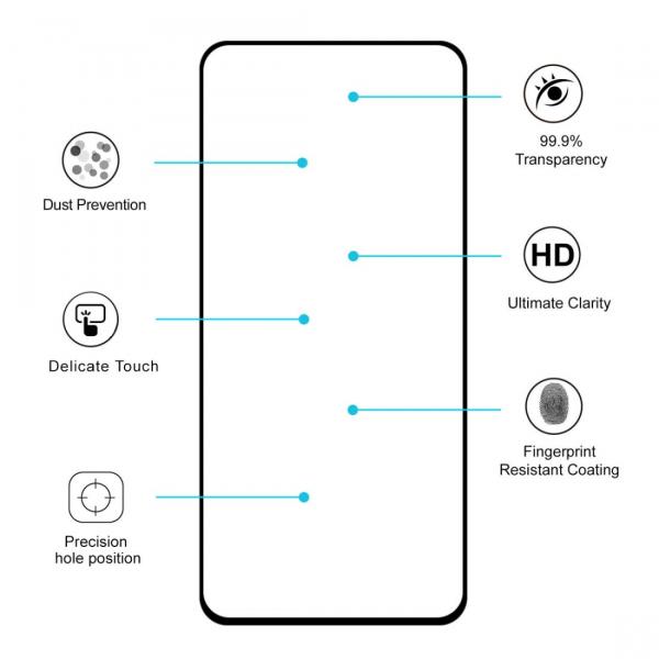 Folie sticla securizata Full Glue pentru Samsung Galaxy A80, Negru [2]