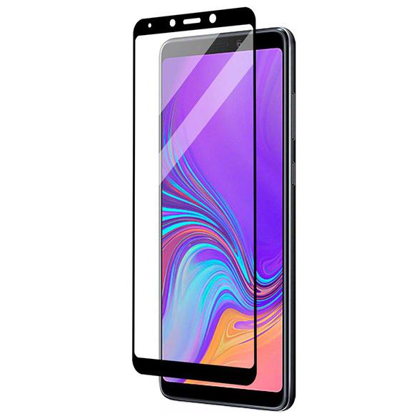 Folie sticla securizata Full Glue pentru Samsung Galaxy A9 (2018), Negru [0]