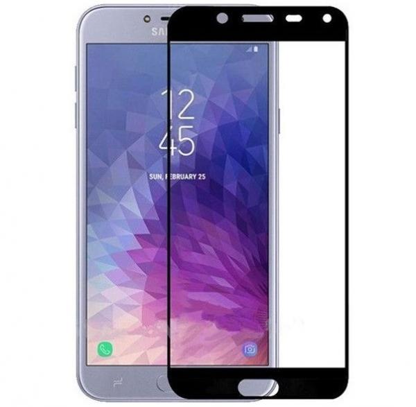 Folie sticla securizata Full Glue pentru Samsung Galaxy J4 (2018), Negru [0]