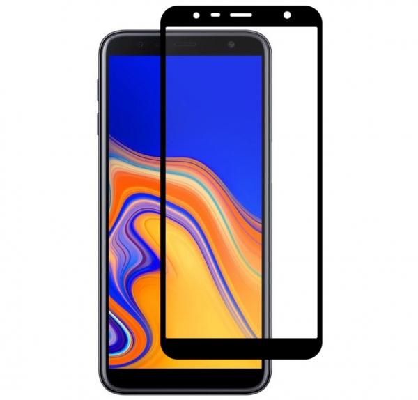 Folie sticla securizata Full Glue pentru Samsung Galaxy J4 Plus (2018), Negru 0