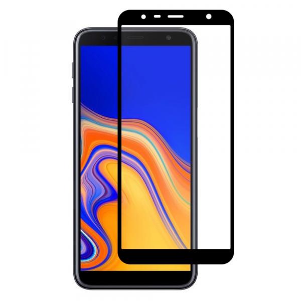 Folie sticla securizata Full Glue pentru Samsung Galaxy J6 Plus (2018), Negru [0]