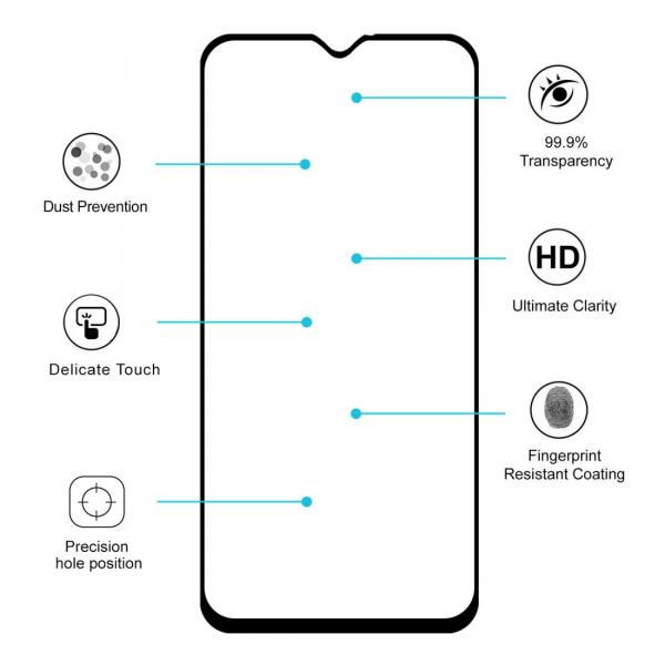 Folie sticla securizata Full Glue pentru Samsung Galaxy M20, Negru 1