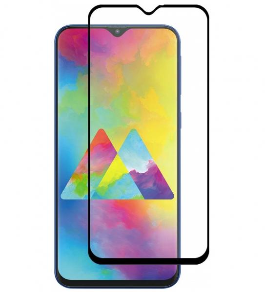Folie sticla securizata Full Glue pentru Samsung Galaxy M20, Negru 0