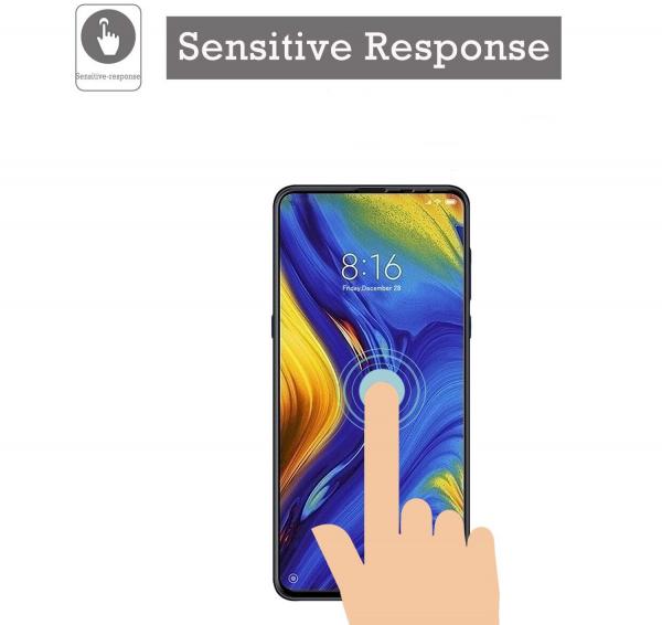 Folie sticla securizata Full Glue pentru Xiaomi Mi MIX 3, Negru 1