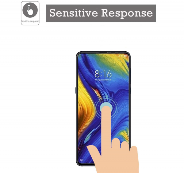 Folie sticla securizata Full Glue pentru Xiaomi Mi MIX 3, Negru 4