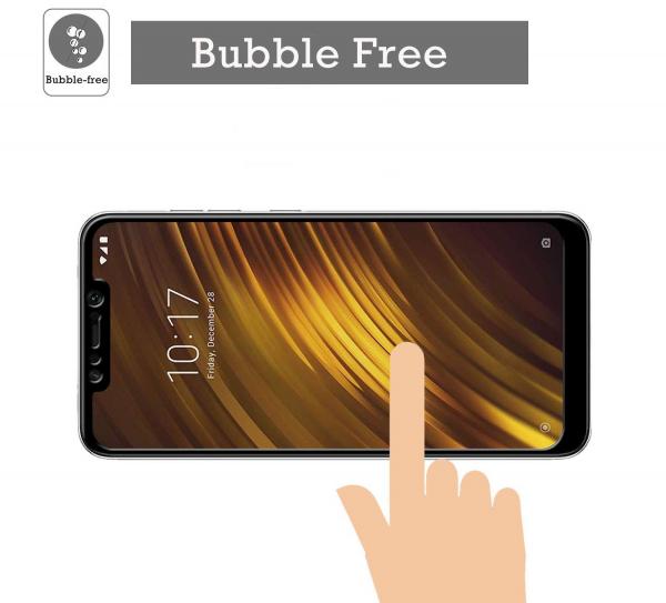 Folie sticla securizata Full Glue pentru Xiaomi Pocophone F1, Negru 3