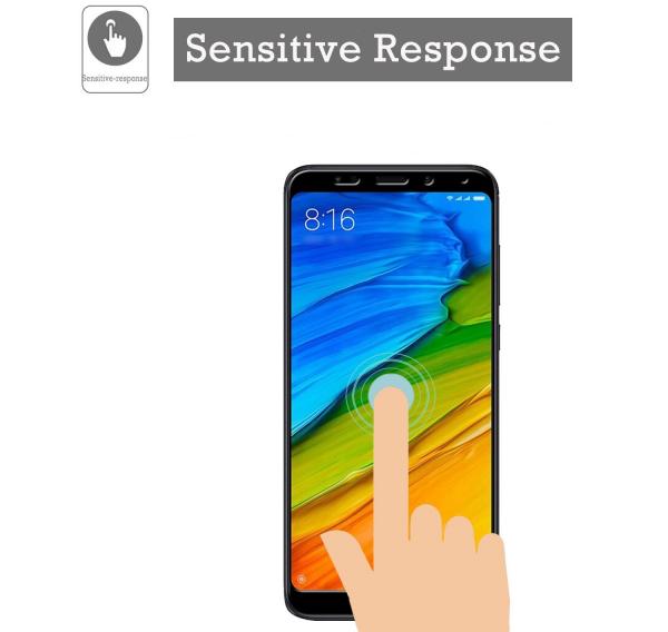 Folie sticla securizata Full Glue pentru Xiaomi Redmi 5 Plus, Negru 1