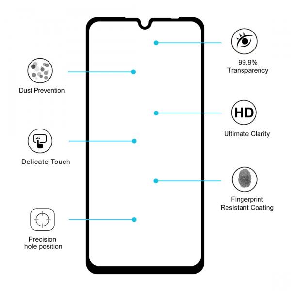 Folie sticla securizata Full Glue pentru Xiaomi Redmi 7, Negru 1