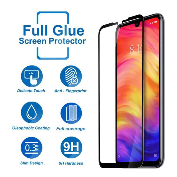 Folie sticla securizata Full Glue pentru Xiaomi Redmi Note 7, Negru 2
