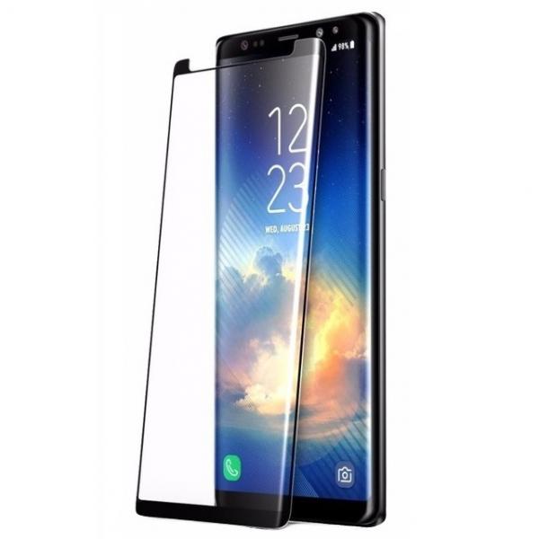 Folie sticla securizata curbata Full Glue Samsung Galaxy Note 9, Negru 0
