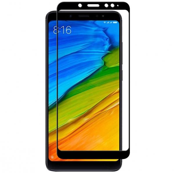 Folie sticla securizata Full Glue Xiaomi Redmi Note 5, Negru [0]