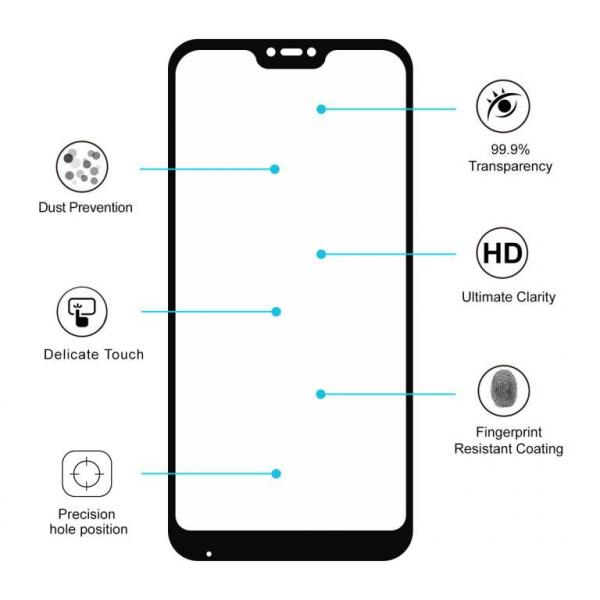 Folie sticla Xiaomi Mi A2 Lite Full Cover Full Glue, Negru 3