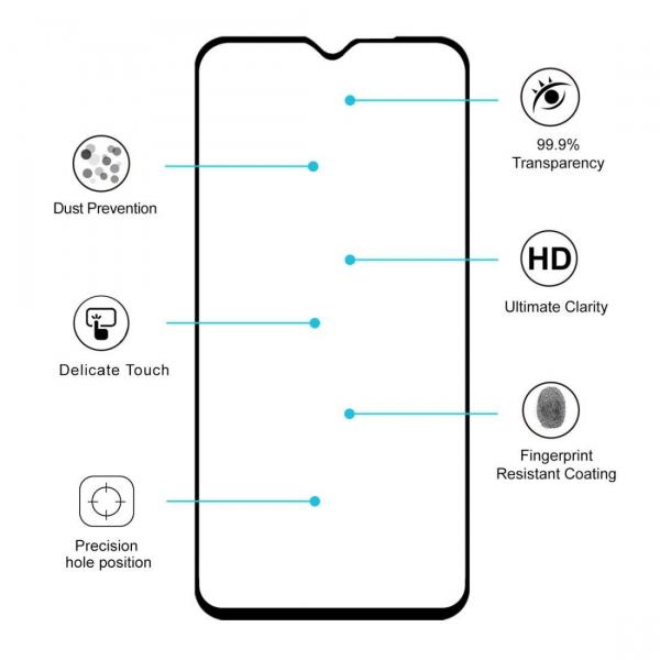 Folie sticla Xiaomi Redmi Note 8 Pro Full Cover Full Glue, Negru 1