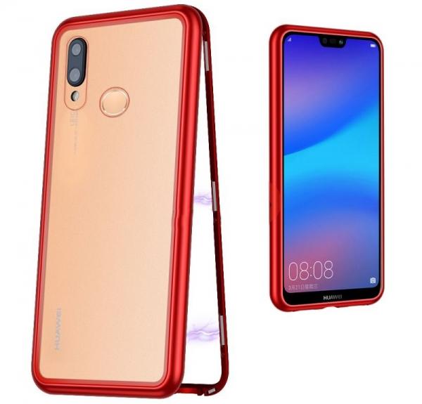 Husa 360 Magnetic Case pentru Huawei P20 Lite, Red 1