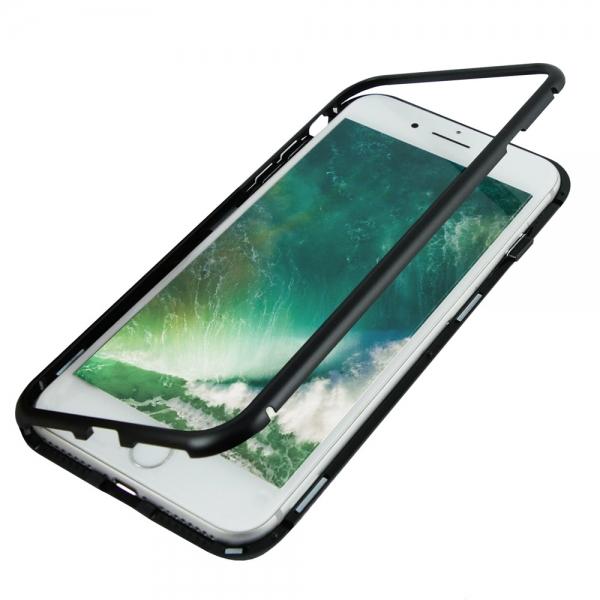 Husa 360 Magnetic Case pentru iPhone 8 Plus, Negru [2]