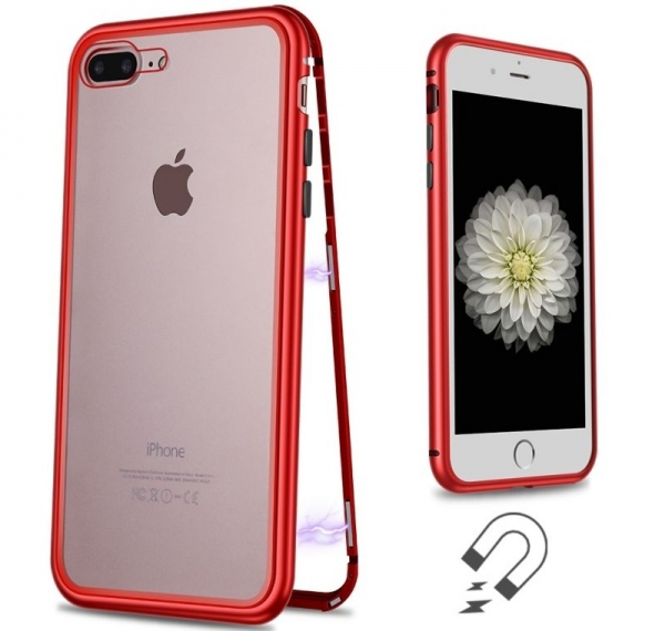 Husa 360 Magnetic Case pentru iPhone 8 Plus, Red 1