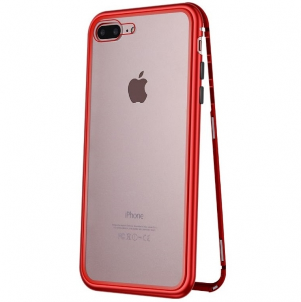 Husa 360 Magnetic Case pentru iPhone 8 Plus, Red 0