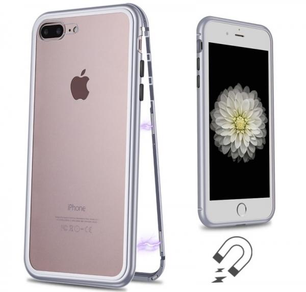 Husa 360 Magnetic Case pentru iPhone 8 Plus, Silver 1