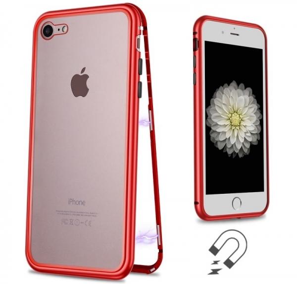 Husa 360 Magnetic Case pentru iPhone 8, Red 1