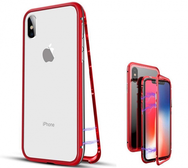 Husa 360 Magnetic Case pentru iPhone X, Red 1