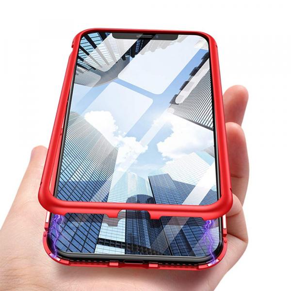 Husa 360 Magnetic Case pentru iPhone X, Red 3