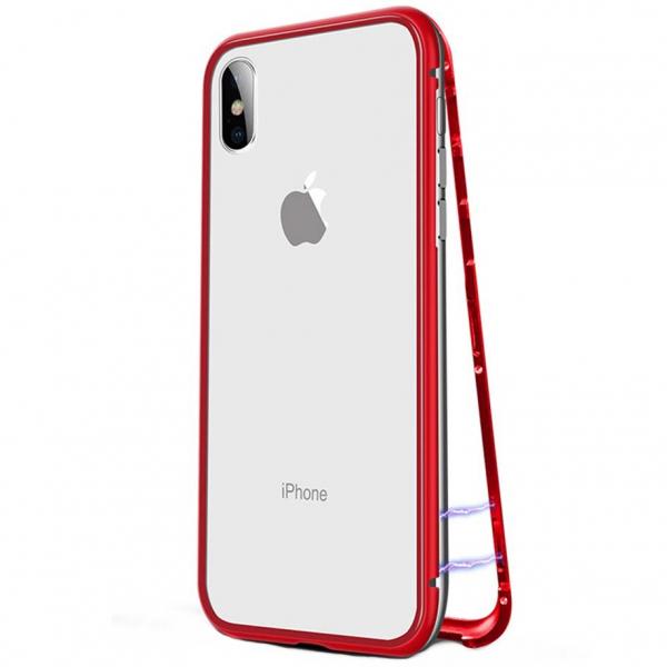 Husa 360 Magnetic Case pentru iPhone X, Red 0