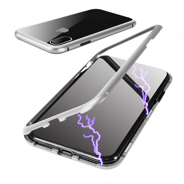 Husa 360 Magnetic Case pentru iPhone X, Silver 2