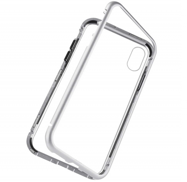 Husa 360 Magnetic Case pentru iPhone X, Silver 3