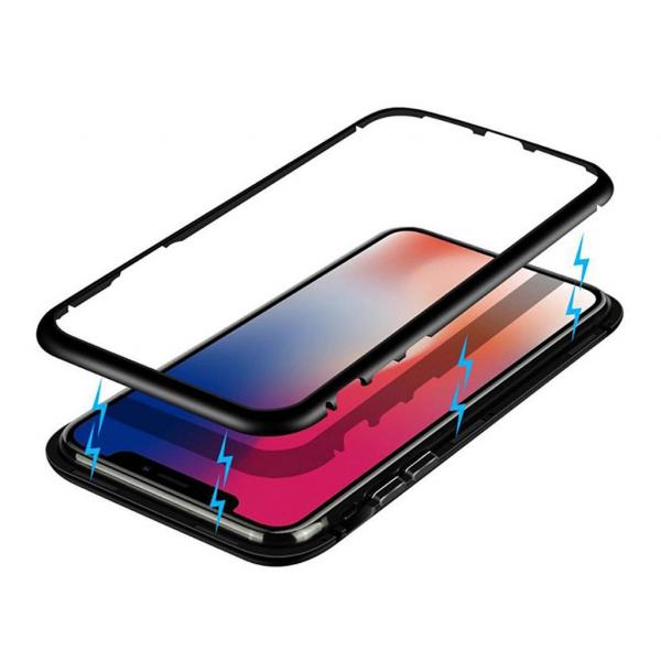 Husa 360 Magnetic Case pentru iPhone XS, Negru 2