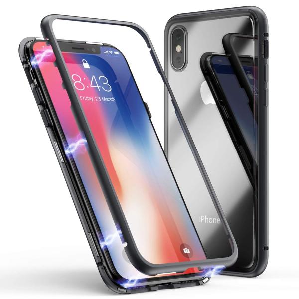 Husa 360 Magnetic Case pentru iPhone XS, Negru 0
