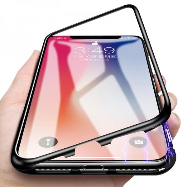 Husa 360 Magnetic Case pentru iPhone XS, Negru 3