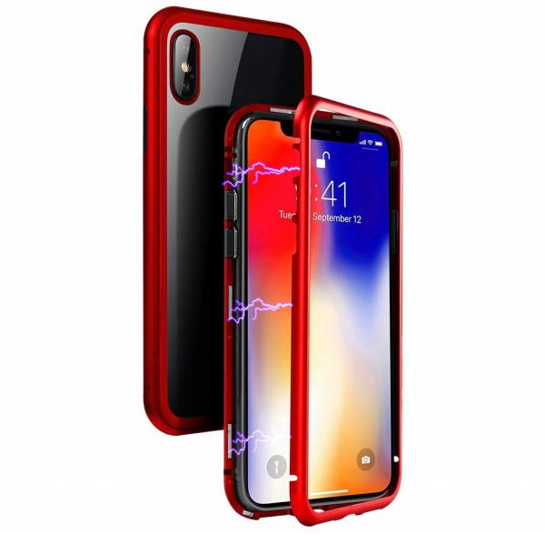 Husa 360 Magnetic Case pentru iPhone XS, Red 0