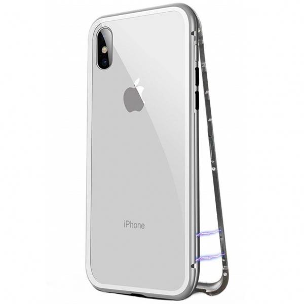 Husa 360 Magnetic Case pentru iPhone XS, Silver 1