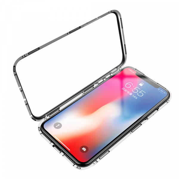 Husa 360 Magnetic Case pentru iPhone XS, Silver 3