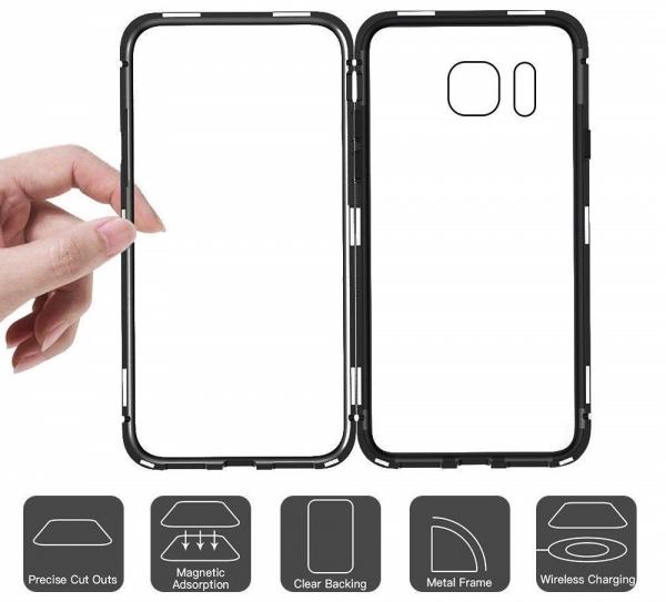 Husa 360 Magnetic Case pentru Samsung Galaxy S7 Edge, Negru 3