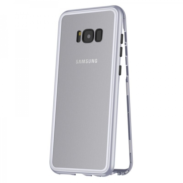 Husa 360 Magnetic Case pentru Samsung Galaxy S8 Plus, Silver 0