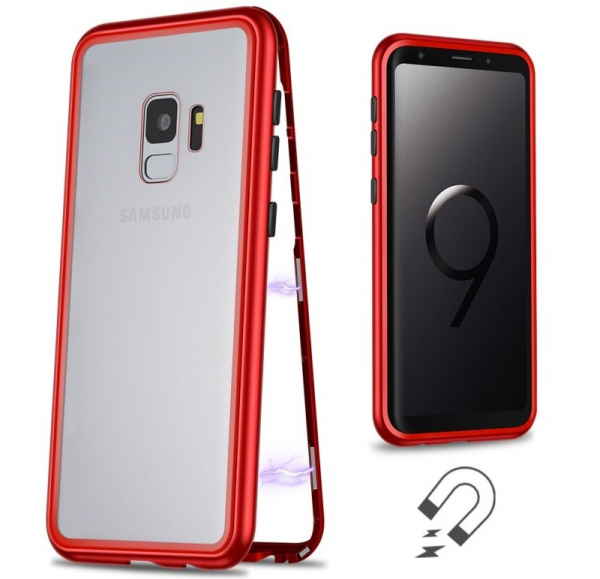Husa 360 Magnetic Case pentru Samsung Galaxy S9 Plus, Red 1